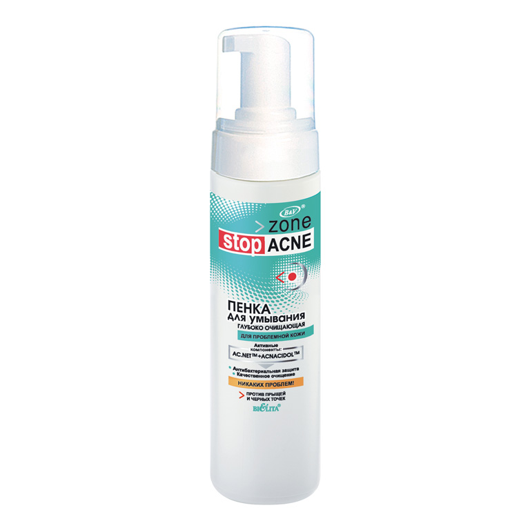 Zone Stop Acne Пенка для умывания глубоко очищающая 175мл