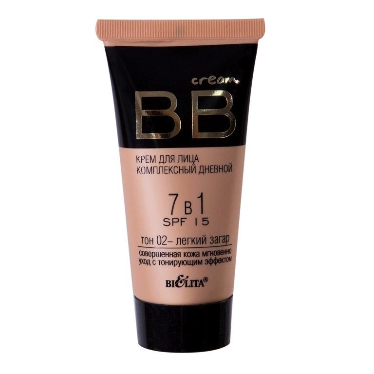 BB cream Крем для лица комплексный дневной 7в1 SPF15 тон 02 30мл