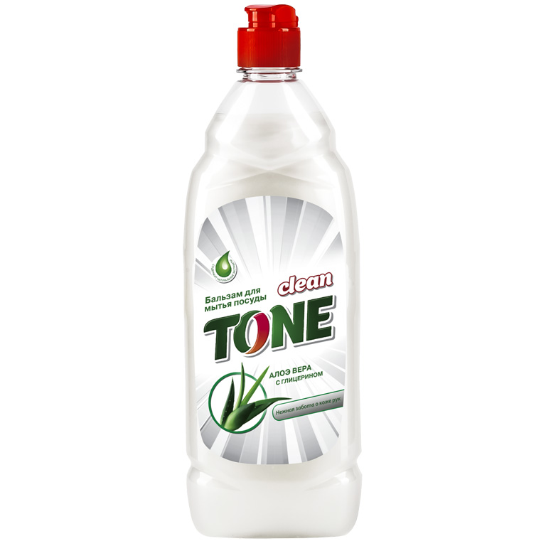 CLEAN TONE бальзам д/посуды Алоэ Вера с глицерином 675мл