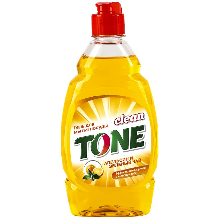 CLEAN TONE гель д/посуды Апельсин и зеленый чай 450мл, шт