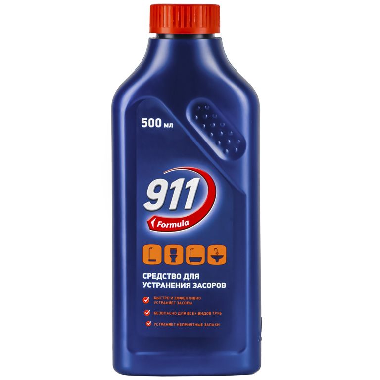 911 ср-во д/засоров 500мл