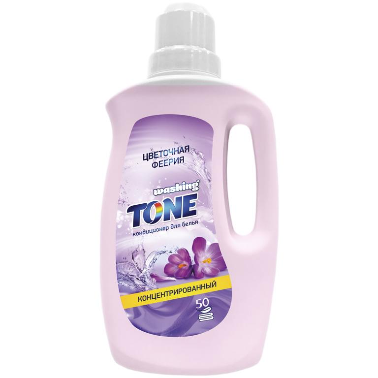 WASHING TONE Кондиционер для белья концентрированный «Washing Tone» «Цветочная феерия», 1000 мл, шт