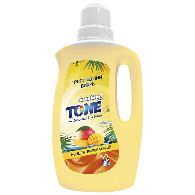 WASHING TONE Кондиционер для белья концентрированный «Washing Tone» «Тропический вихрь», 1000 мл, шт