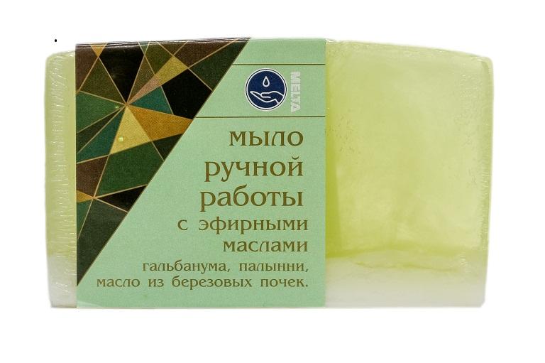 Мыло ручной работы с эфирными маслами БЕРЕЗОВОЕ, 100гр.
