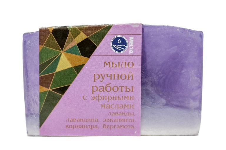 Мыло ручной работы с эфирными маслами Бленд Лавандовое, 100гр