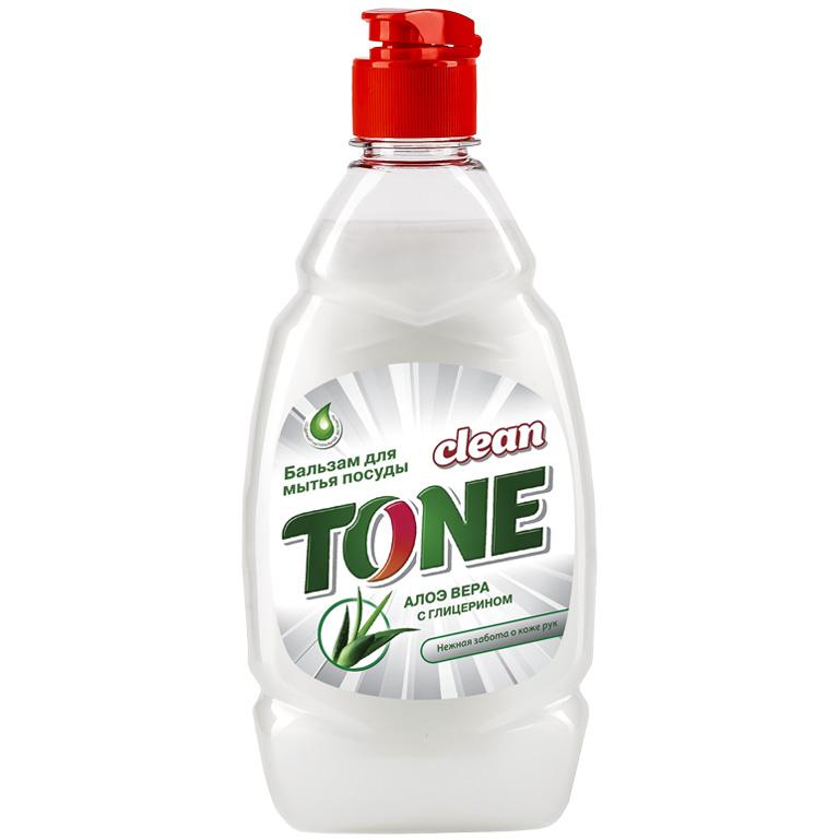 CLEAN TONE бальзам д/посуды Алоэ Вера с глицерином 450 мл