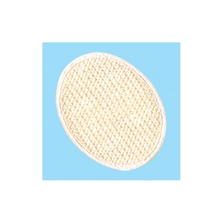 Brillantine Мочалка из СИЗАЛЯ овальная, белая размер 13*18см (201-014)