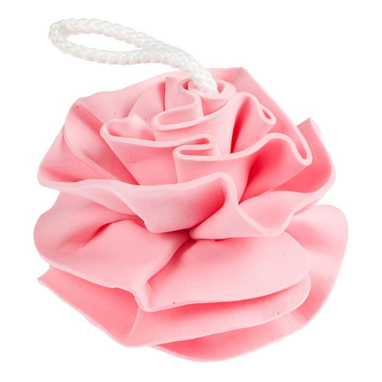Brillantine Мочалка СПОНЖ ГУБКА ЦВЕТОК розовая 11см (201-048)
